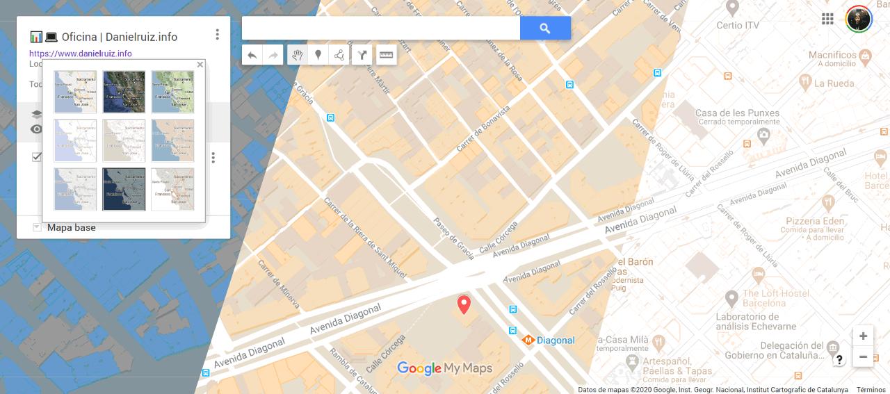 Crear mapa con Google my Maps