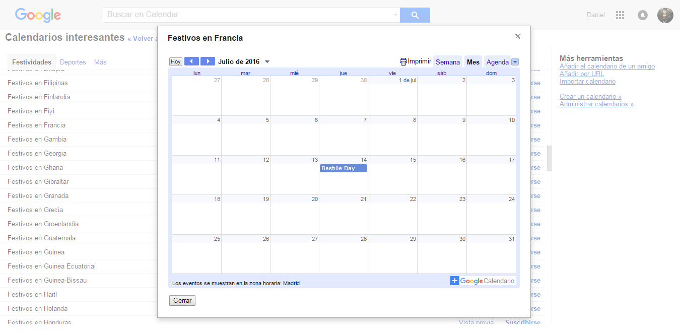 Calendaris interessants -Dies festius a França